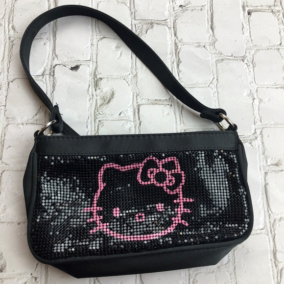 d402d0dcc Hello Kitty Bags | Black Metallic Clutch Purse Wristlet | Poshmark